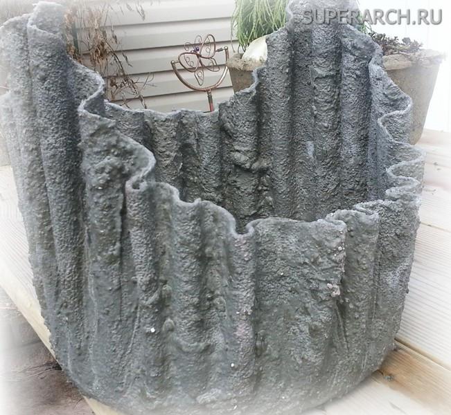 вазы из цементного раствора своими руками