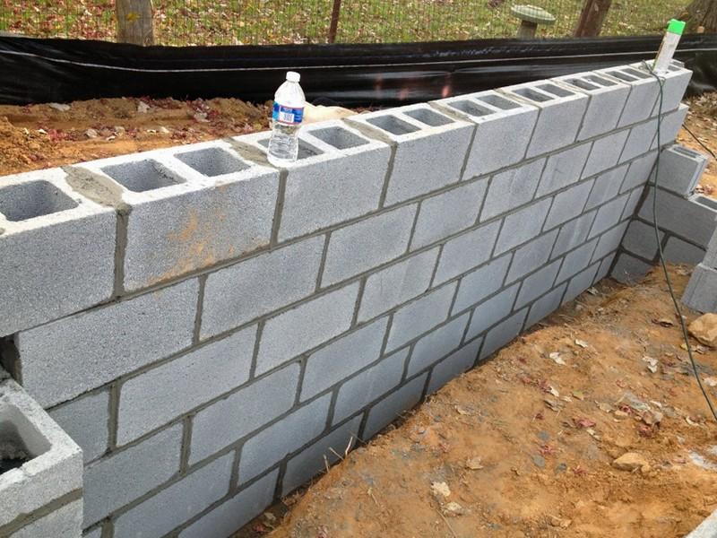 фундамент из пескобетонных блоков