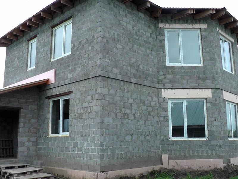 дом из отсевоблоков