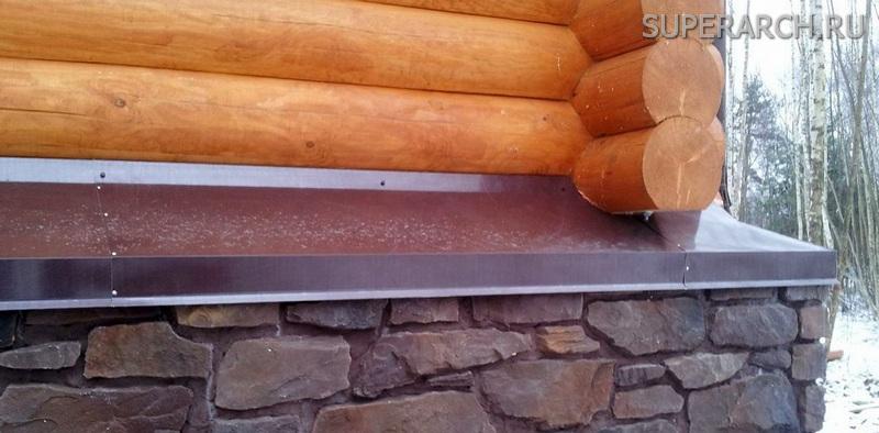 отливы на фундамент деревянного дома фото