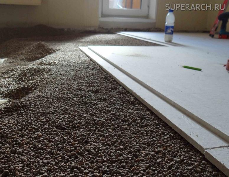 Залить полы керамзитобетоном резиновая краска для бетона купить в перми