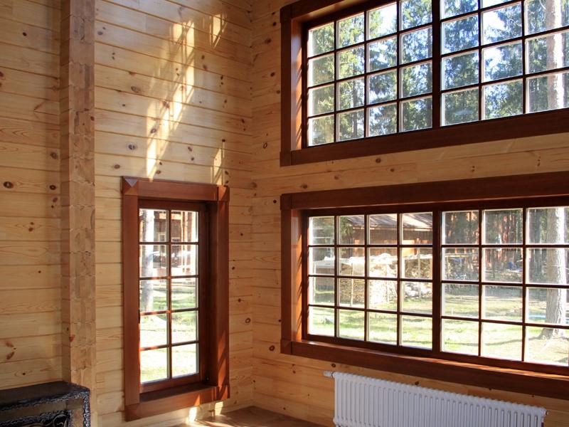 откосы на окна в деревянном доме фото форму выбрать