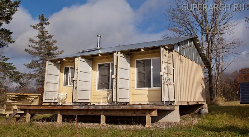 дом из морских контейнеров фото