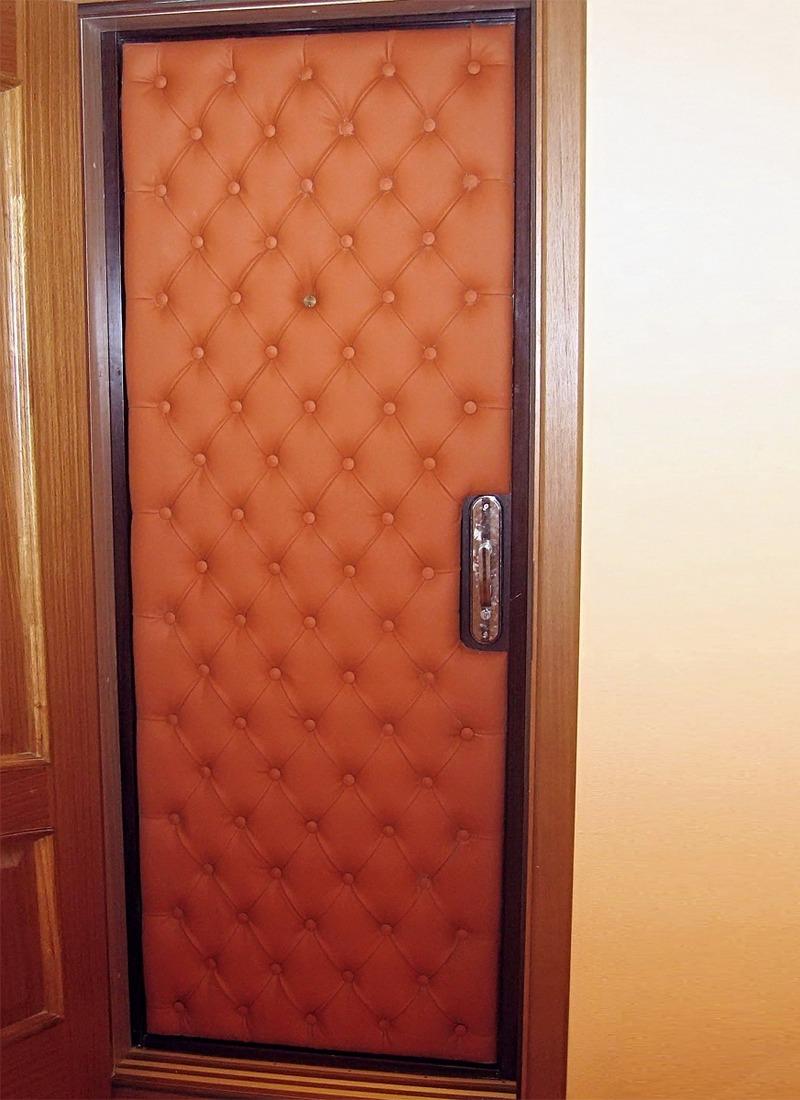 Обивка дверей дермантином своими рук