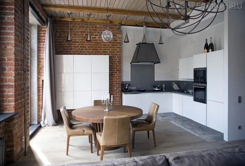 кухня гостиная в стиле лофт лучшие идеи