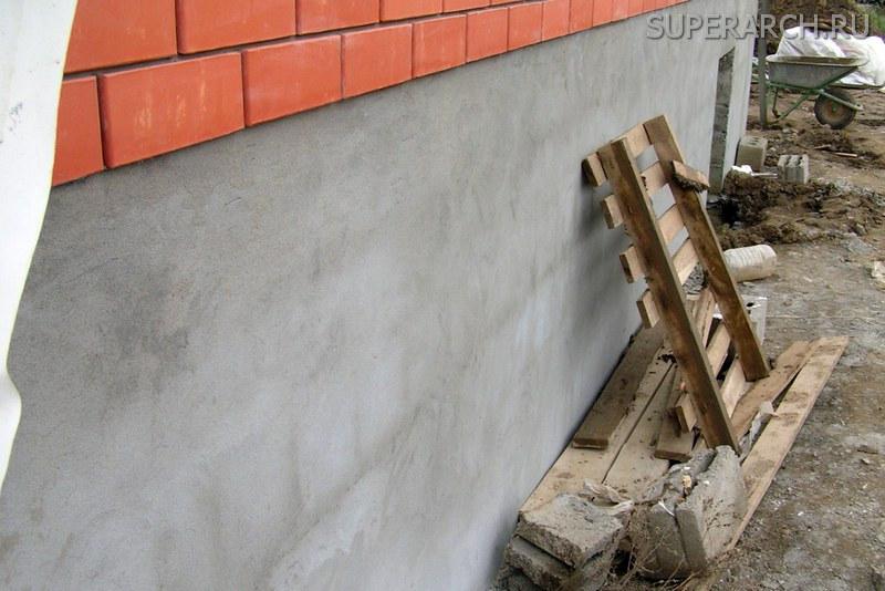 Оштукатурить фундамент дома своими руками