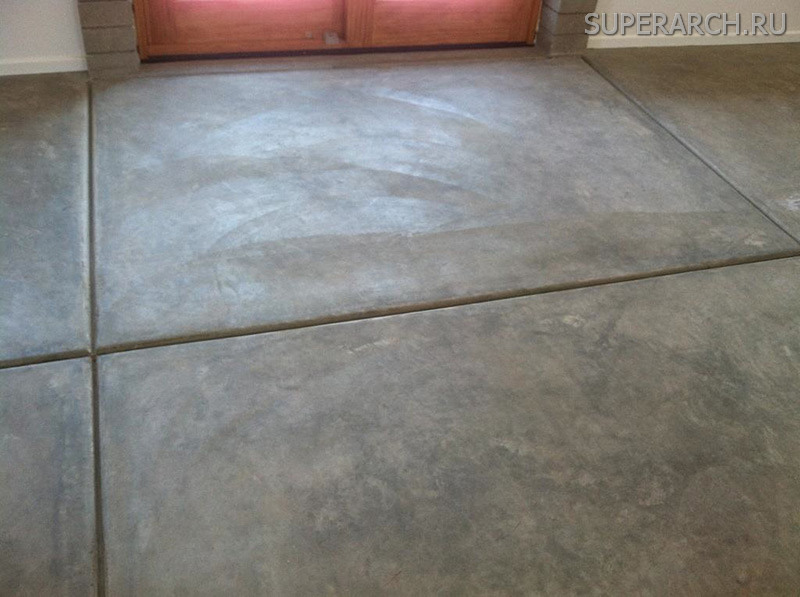 Cement tile flooring