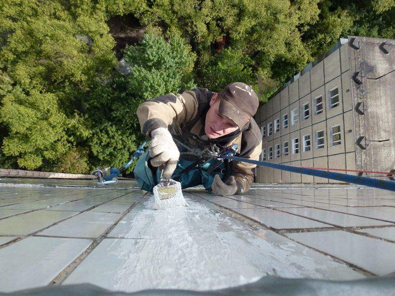 Герметизация температурных швов зданий